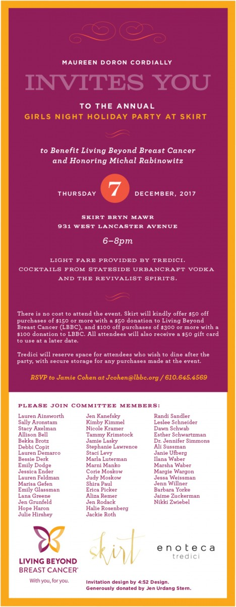 Girls Night Holiday Party at Skirt | Living Beyond Breast Cancer
