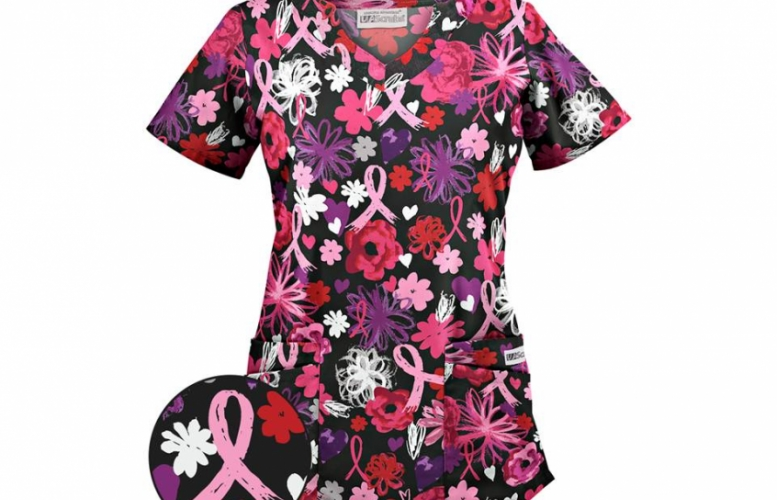 Floral Uniform Short Sleeve