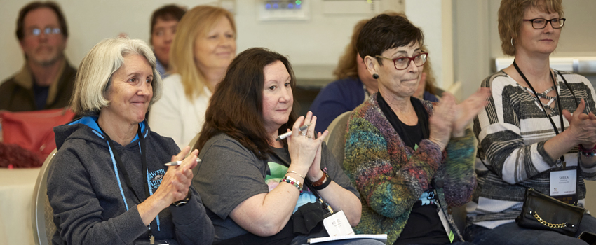 Metastatic Breast Cancer Conference Women Clapping